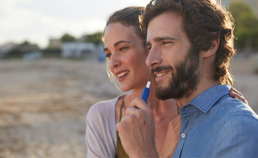 Couple Using IQOS 3 Multi Blue