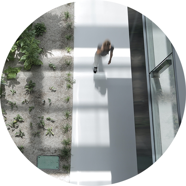 Person walking on a path